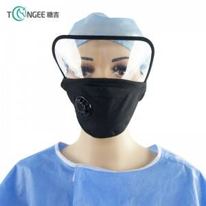 Tongee quick shipping cotton protective eye face shield with valve