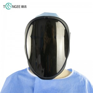 Tongee Halloween Neon LED Mask Party Cosplay Costume Led DJ Party Light Up Mascara Glow LED Mask Face Shield