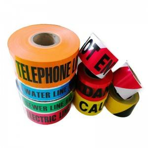 Non-adhesive PE caution tape