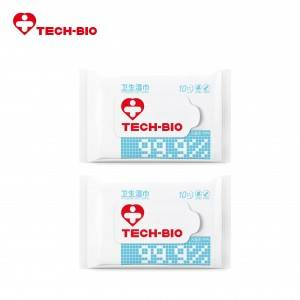 10 pieces Alcohol/Hyamine Wipe