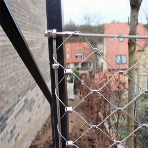 Balustrde and railing protection stainless steel wire rope mesh net