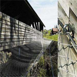 Anti-drop wire rope net