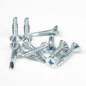 Flat Philip Head With Ribs Self Drilling Screws