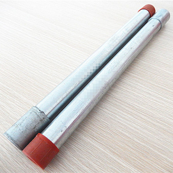 Factory Price China BS4568 Electrical Conduit Pipe with Coupler and Red Cap