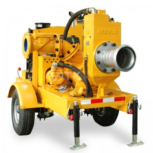 Movable Emergency Flood Control Diesel Engine Self-Priming Water Well Point Dewatering Pump