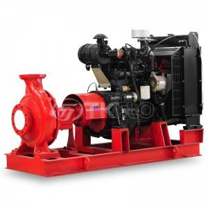 Single stage end suction centrifugal type NFPA FM fire pump
