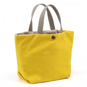 Cotton and Linen Fashion Tote Eco Bag Mini Shopper