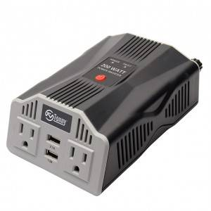 Car Power Inverter 12V DC to 110V AC Converter with 3.1A Dual USB Car Charger Box Type Power Modified Sine Wave Inverter with 2 USB Ports