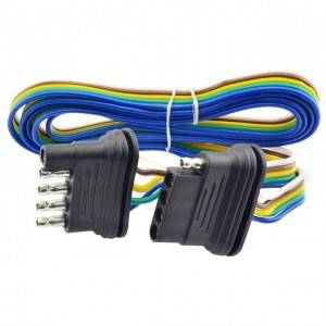 Trailer Wiring Kit 4 Flat/5 Flat Trailer Wiring Harness Extension Connector Trailer Light Kit 4 or 5 Wire Plug Connector for Utility Trailer Lights