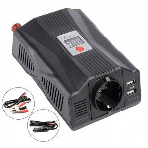 Portable dc to ac car inverter charger 200W/400W power inverter for car, marine, RV