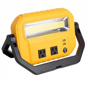 LED Portable 10W Stand Work Light,Super Bright COB Floodlight1200 Lumen for Workshop Construction Site Garage Working