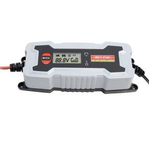 6V/1A, 12V/4A 7-Stage LCD Battery Charger and Battery Maintainer with LCD for 6 and 12V Batteries
