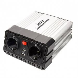 Aluminum alloy casing 12V to 220V car inverter 300W power inverter dc to ac converter charger