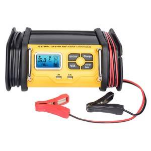 12v/16a.24v/8a Automatic Car Battery Fast Charger With Usb Outlets For Smart Phones