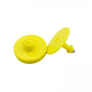 Custom encoding round UHF RFID ear tag for sheep /pig