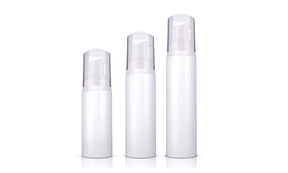 PET Plastic Empty White Cosmetics Foamer Container Foaming Pump Bottle Featured Image