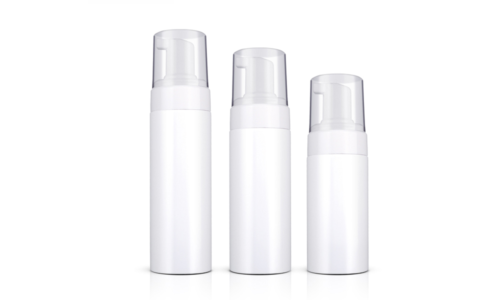 Empty White Plastic PET Face Cleanser Mousse Foam Pump Bottle Wholesale Featured Image
