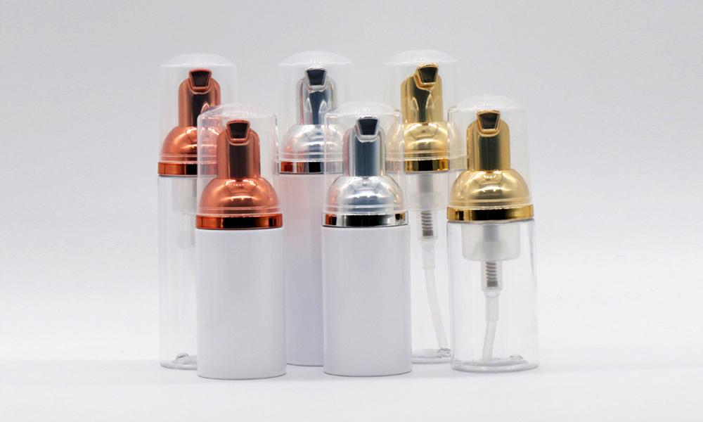 30ml 50ml 80ml PET Empty Silver/Rose Gold Cosmetic Foam Pump Bottle Featured Image