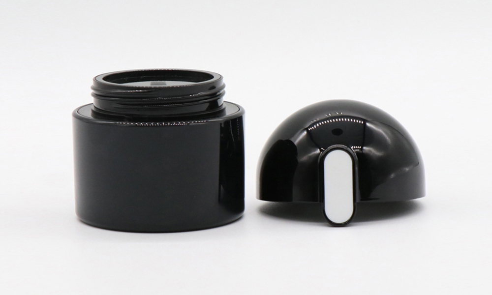 New Style High Quality Black 50g Plastic ABS Cosmetic Container Cream Jar Featured Image