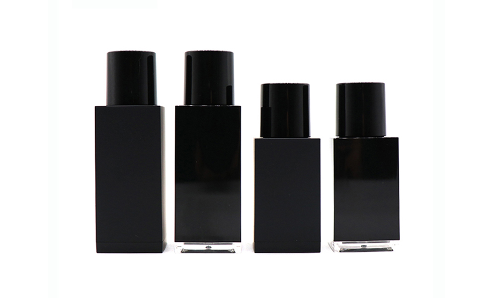 Wholesale 30ml 50ml Empty Black Square Essential Oil Plastic Dropper Bottle Featured Image