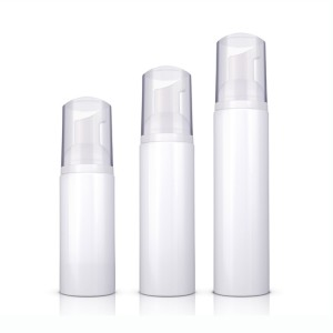 PET Plastic Empty White Cosmetics Foamer Container Foaming Pump Bottle