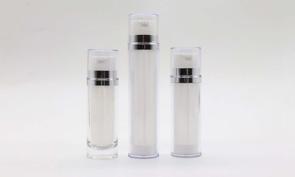White Packaging Bottle Dual Chamber Cosmetic Plastic Lotion Pump Bottle Featured Image