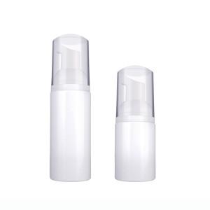 PET Plastic Empty White Cosmetics Foamer Container Foaming Pump Bottle