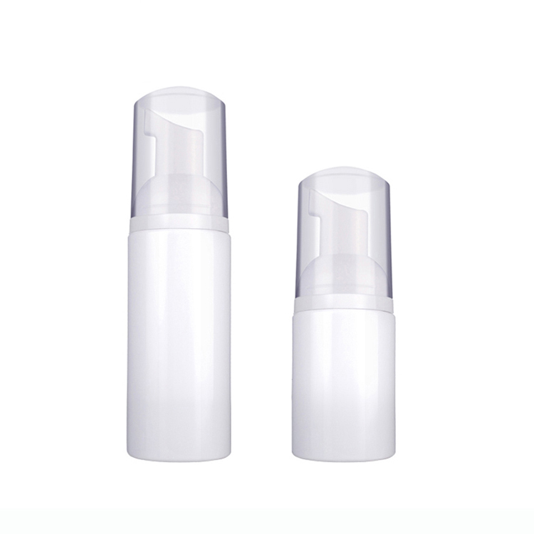 OEM/ODM China Airless Pump Bottles Bulk - PET Plastic Empty White Cosmetics Foamer Container Foaming Pump Bottle – TOPFEEL PACK detail pictures
