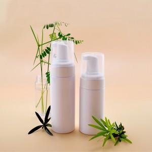 Empty White Plastic PET Face Cleanser Mousse Foam Pump Bottle Wholesale