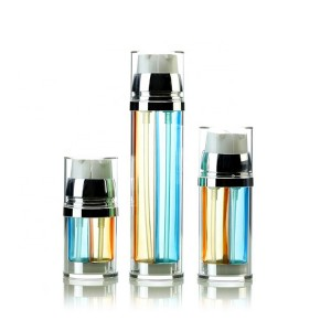 Acrylic Dual Chamber Cosmetic Lotion Pump Bottle 30ml 50ml 100ml