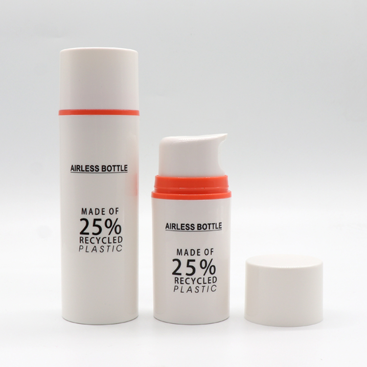High Quality Pcr Plastic Bottles - 25% Recycled Plastic Eco-friendly PCR Material Packaging Airless Pump Bottle – TOPFEEL PACK detail pictures