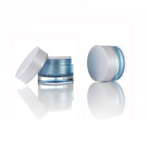 Double Layer Cream Jar Acrylic Cosmetic Packaging with Screw Cap