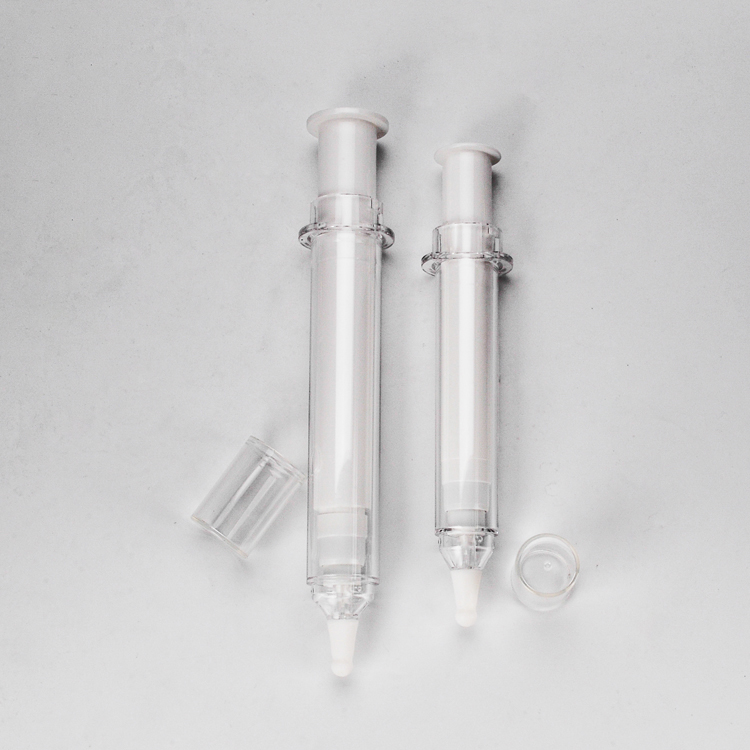 China Cheap price 10ml Plastic Syringe - Cosmetic Packaging Syringe Plastic Needle Eye Cream Syringe – TOPFEEL PACK detail pictures