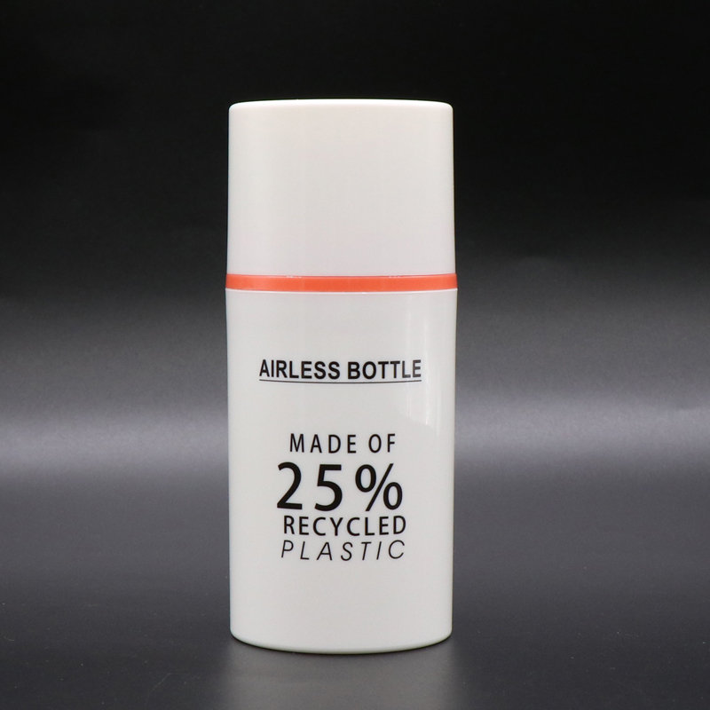 China wholesale Pcr Pet Bottles - 25% Recyclable Plastic Eco-friendly PCR Material Airless Pump Bottle – TOPFEEL PACK detail pictures