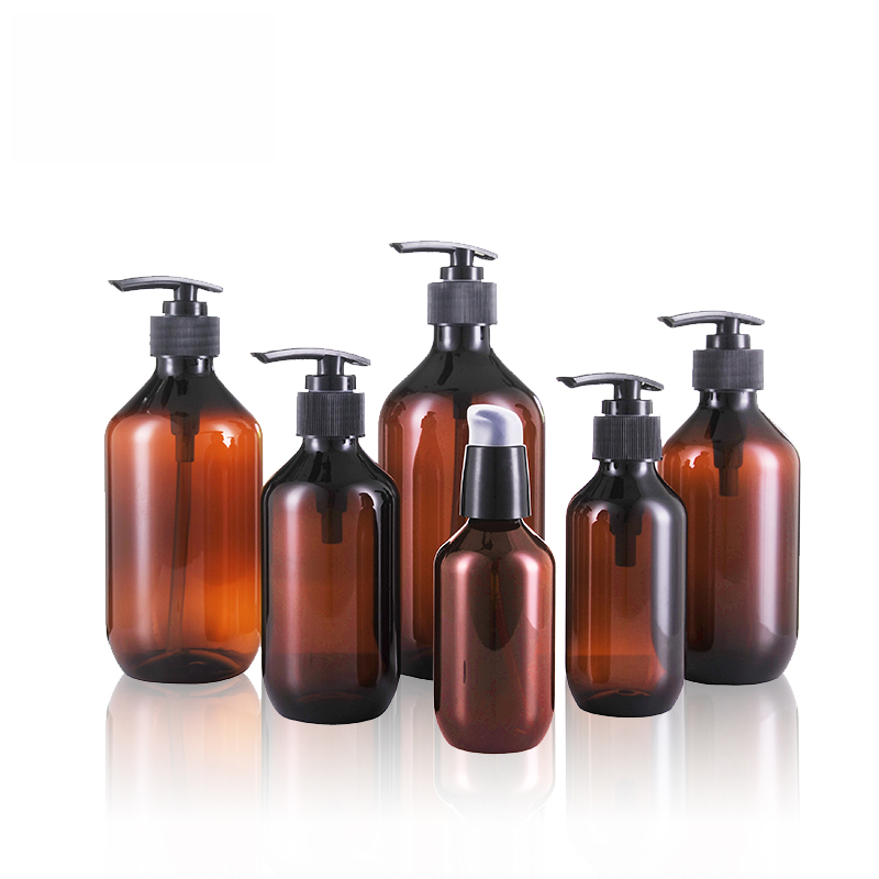 Factory Free sample Unique Lotion Bottles - Amber PET Lotion Bottle Plastic Shampoo Bottle Cosmetic Packaging – TOPFEEL PACK
