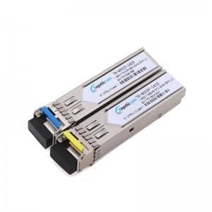 1.25Gb/s SFP 1310nm/1550nm 20km DDM Simplex LC optical transceiver