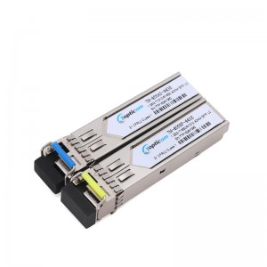 1.25Gb/s SFP 1310nm/1550nm 40km DDM Simplex LC optical transceiver