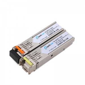 1.25Gb/s SFP 1490nm/1550nm 80km DDM Simplex LC optical transceiver