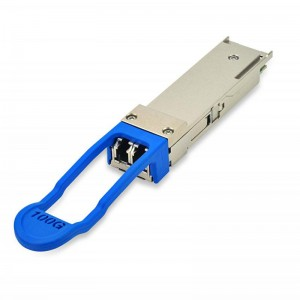 100GBASE-LR4 and 112GBASE-OTU4 QSFP28 Dual Rate 1310nm 100m DDM DML& PIN LC optical transceiver