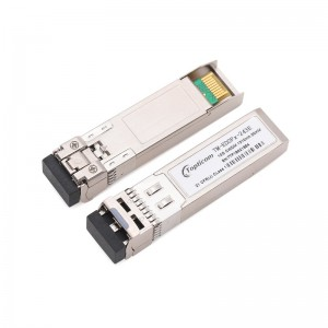 10Gb/s SFP+ CWDM 1270nm~1450nm 20km DDM DFB LC optical transceiver