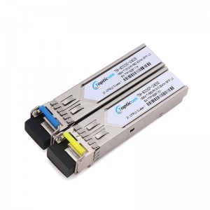 155Mb/s SFP 1310nm/1550nm 20km DDM Simplex LC optical transceiver