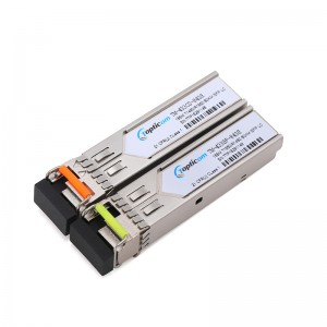 155Mb/s SFP 1310nm/1550nm 80km DDM Simplex LC optical transceiver