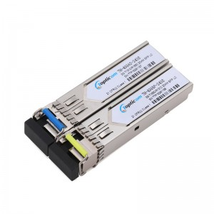 3Gb/s SFP+ BIDI 1310nm/1550nm 20km DDM Simplex LC optical transceiver