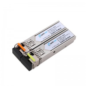 3Gb/s SFP+ BIDI 1490nm/1550nm 40km DDM Simplex LC optical transceiver