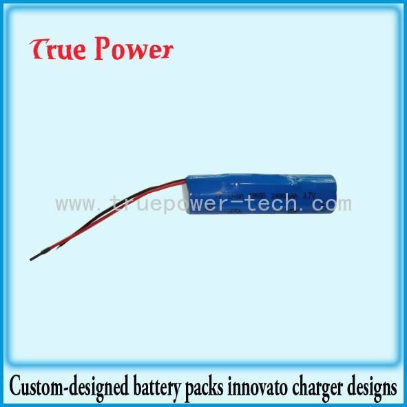 3.7V 2200mAh 18650 Battery Pack