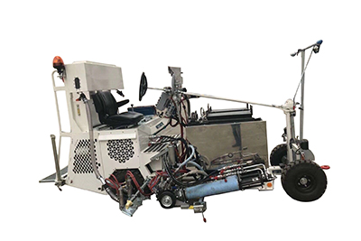 Driving type thermoplastic road marking machine with extruder Featured Image
