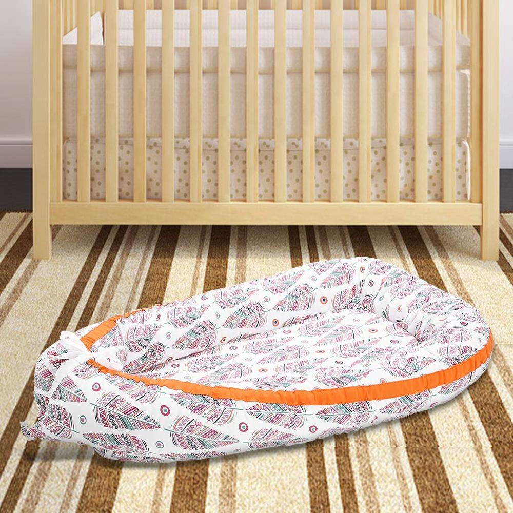 Factory Wholesale Folding Portable Cotton Baby Bed Nest