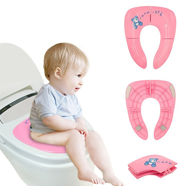 Folding Portable Reusable Travel Toilet Potty Reusable Toilet Seat