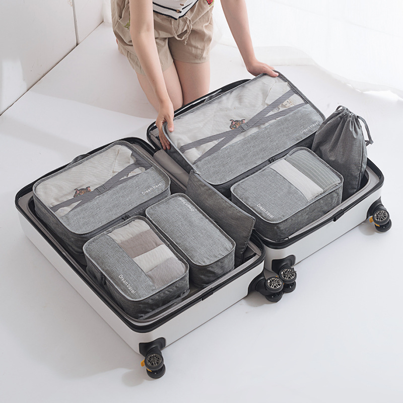 High Quality 7pcs/set Traveling Packing Clothes Organizer Storage Bag For Luggage Case