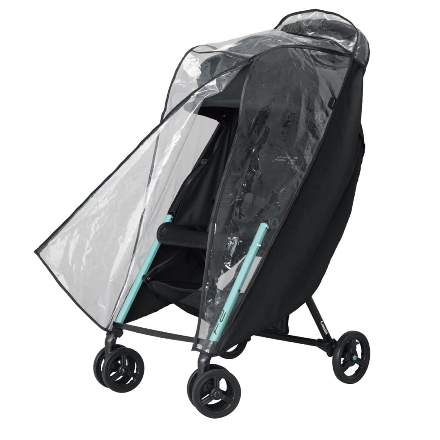 Weather Shield Pushchair Rain Cover | for City Mini 2 (4-Wheel) Single Strollers | Blocks Rain, Snow & Wind